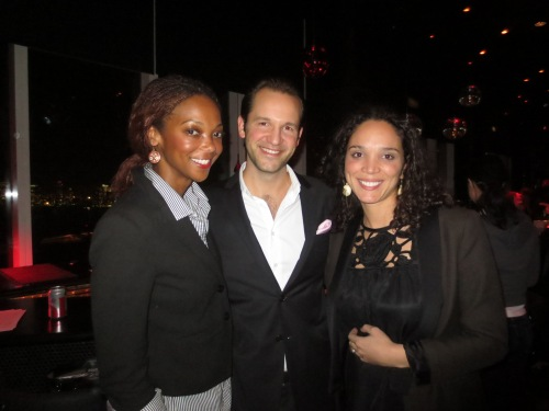 With Alex Eissing, Creative Director of DailyCandy, and Daphnee Allen of Coty.