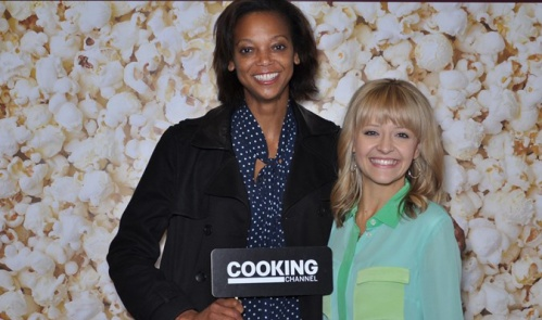 With Kelsey Nixon of the Cooking Channel.