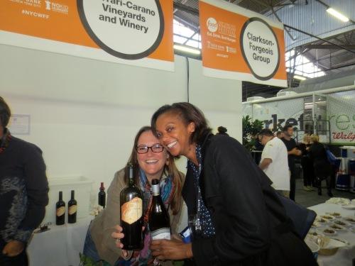 With Julie von Uffel of Ferrari-Carano Vineyards.