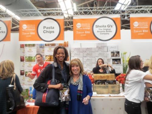 With Shelia G of Shelia G's Brownie Brittle!