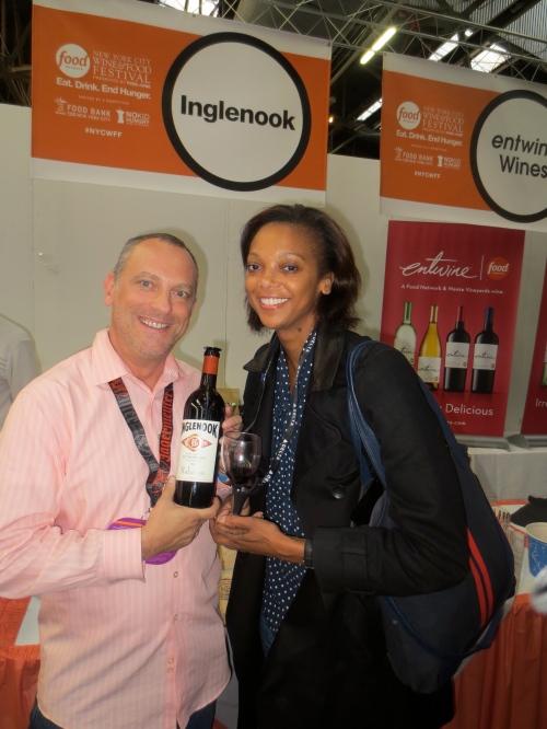 With Thomas Cojumbus of Inglenook Vineyards.